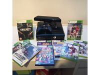 Xbox 360+kinect, 250GB, 10 games