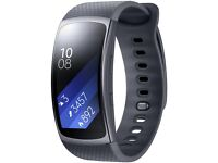 SAMSUNG Gear Fit 2 SM-R360 GPS Music HR Sports Band Smartwatch Black Large BRAND NEW SEALED