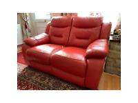 100% genuine Leather 2 seater sofa.