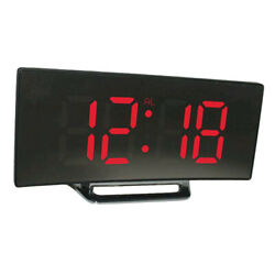 1pcs Large Number Digital LED Display Alarm Clock for Heavy Sleepers Teens Red