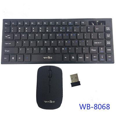 Tastatur Maus für Smart TV PC Laptop Kabellos Funktastatur Funkmaus Wireless 10m (Smart Tv Wireless Tastatur)