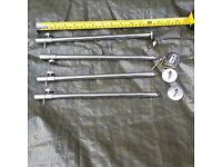4 x 12inch adjustable stainless steel banks sticks