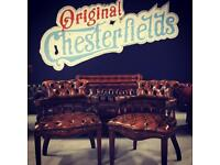 Original Chesterfield Captains Chairs x2