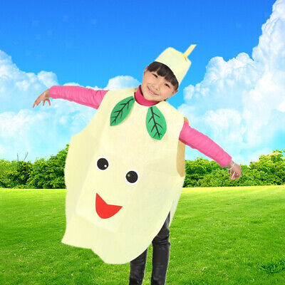 Kinder Jungen Mädchen Birnen Anzug für Kinder Tag Party Kostüm Frucht
