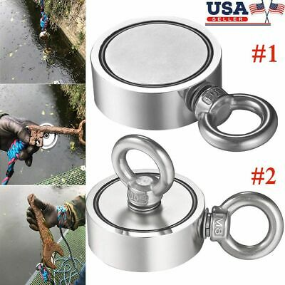 Big Round Double Sided Super Strong Neodymium Fishing Magnet Pulling Force