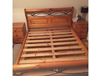 Double bed and bedside drawers