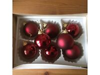 Christmas Baubles wine/burgundy in colour, beautiful & immaculate