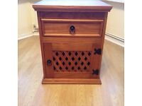 Corona Mexican pine small cupboard with drawer and lattice door