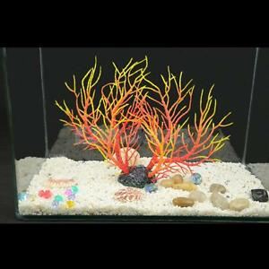 Aquarium fish tank artificial coral ornament aquatic plant for Aquatic decoration