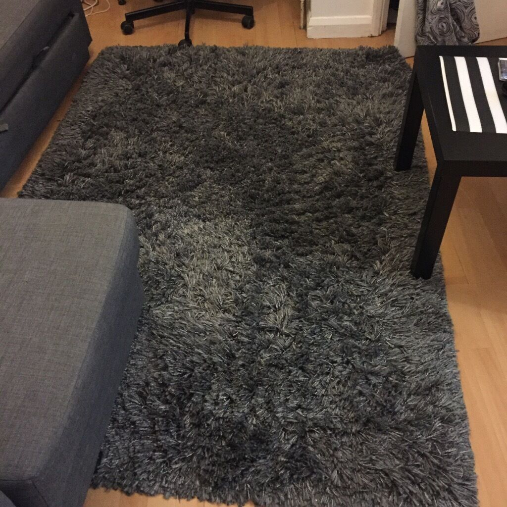 Ikea Rugs Sale Uk: IKEA ADUM Grey Floor Rug (1year Old)