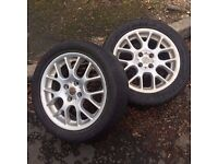 2 MG Alloy Wheels with tyres