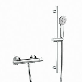 Thermostatic Bar Mixer Kit, Easy Clean Round Head - Bathempire