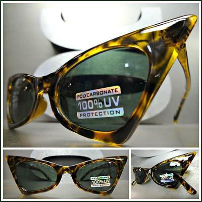 CLASSIC VINTAGE 60s RETRO CAT EYE Style SUN GLASSES Small Tortoise Fashion Frame