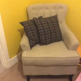Armchair in Silver Grey