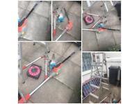 Long reach electric hedge cutter + ladder & accessories