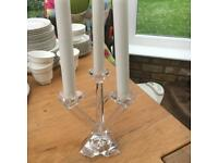 villeroy & boch glass candle holder 3 arms