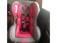 Minnie Mouse Cosmo Car Seat from birth to 4 years