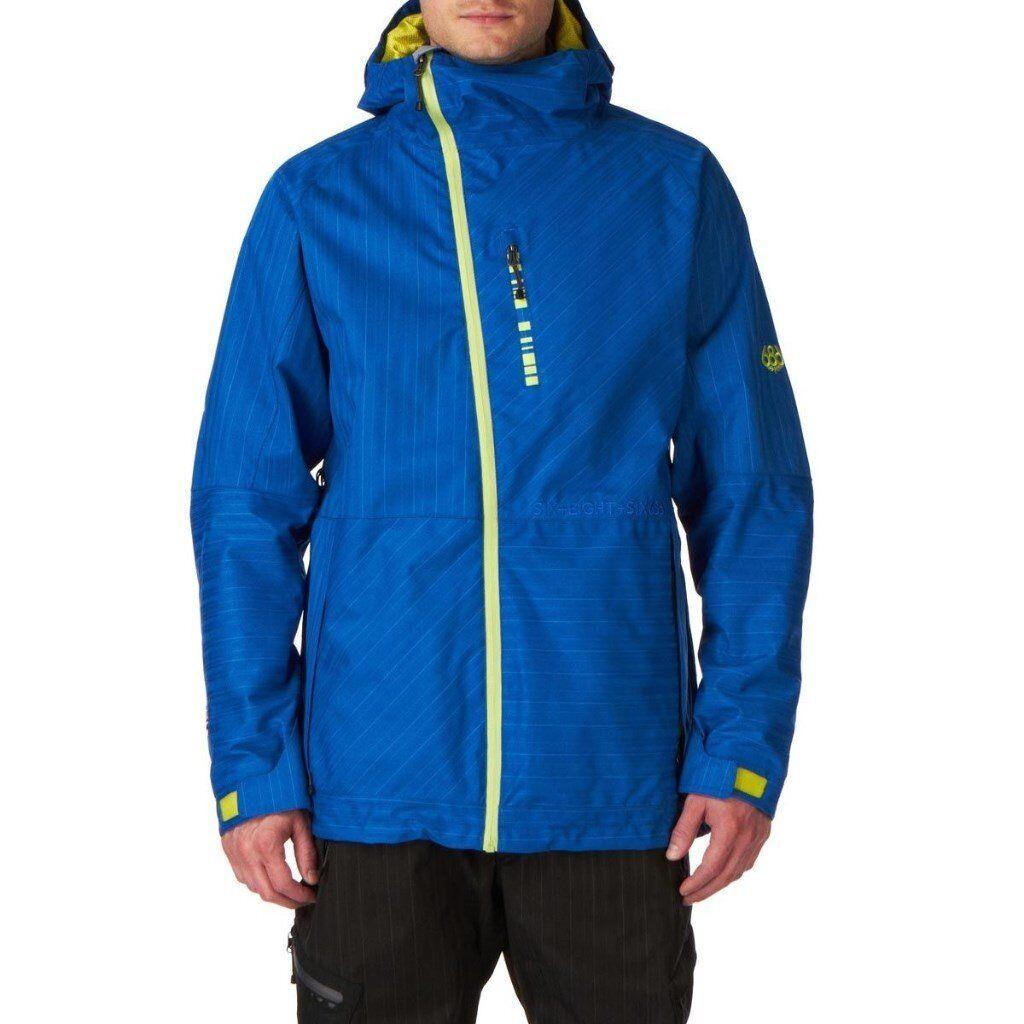 686 Hydra Plexus Snow Jacket - Royal Stripe Texture - Snowboard Jacket - Mens Medium