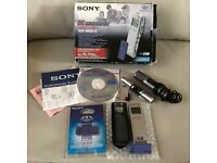 SONY DICTAPHONE/DIGITAL RECORDER - ICD-MS515 (INCLUDES 2 MEMORY STICKS, CASE AND 2 MICROPHONES)