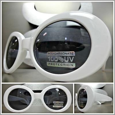 Mens 50s Style (Mens Women CLASSIC VINTAGE 50's RETRO Style SUN GLASSES White Oval Fashion)