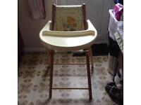 Highchair folding