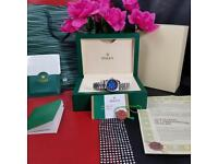 Rolex Ladies DateJust Silver Strap BlueFace - Complete Set Box And Papers 1YFW