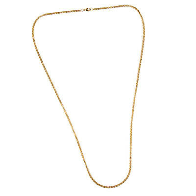 - 1.97/2.36/2.76/3.15inch Solid Yellow Gold Box Link Chain Square Rolo