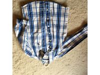 Boys Abercrombie and Fitch checked long sleeved shirt