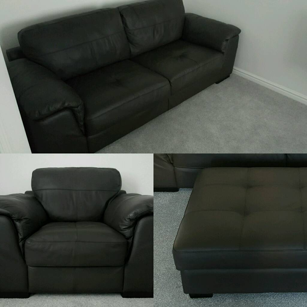 Good Quality Leather Sofa: 3 Seater, 1 Seater