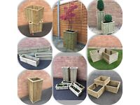 Wooden planters (various shapes and sizes)