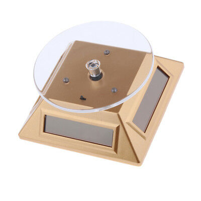 Solar Power Rotating Display Stand Turn Table Plate Jewellery Watch Phone