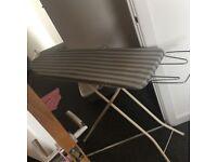 White & Grey stripe ironing board