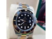 Complete Package bi strap black face ceramic bezel Rolex submariner automatic sweeping
