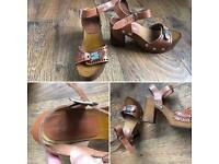 ASOS. Leather Sandals/Heels. Size 6.