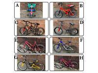Bikes various sizes & prices