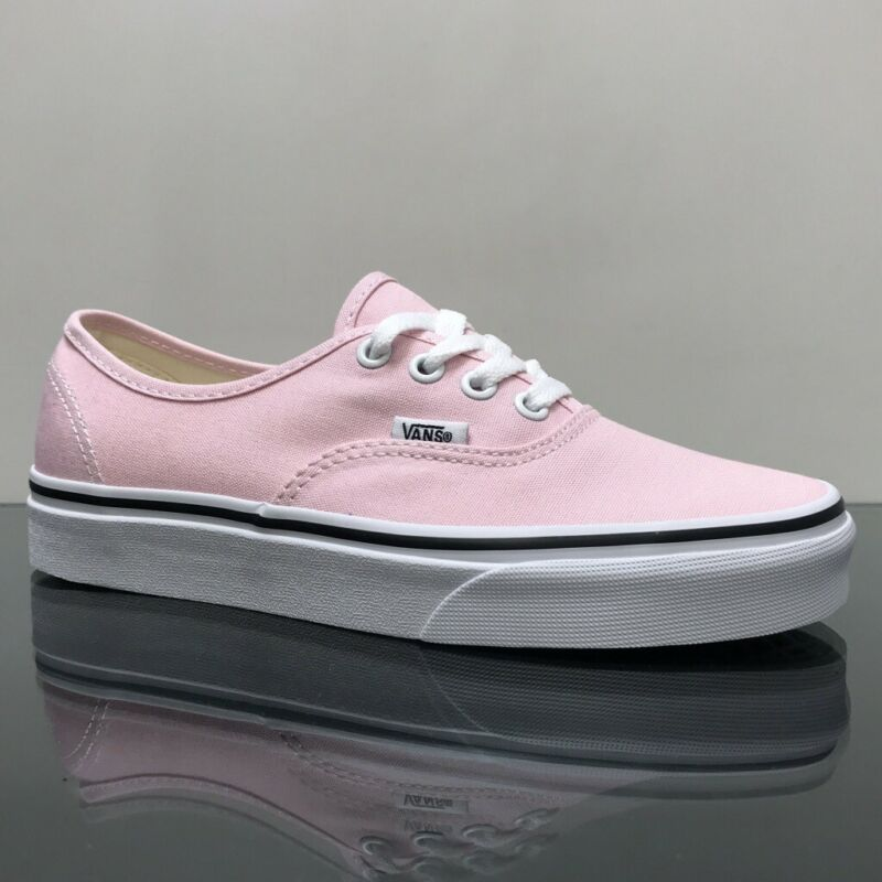 Details about VANS AUTHENTIC CHALK PINK TRUE WHITE TRAINERS