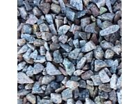 20 mm silver/ pink granite garden and driveway chips /stones/ gravel