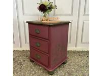Painted Bedside Table Solid Pine Wood