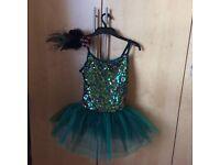 Peacock dance costume & hair clip