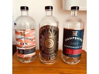 Empty artisan spirit bottles - perfect for arts, crafts and weddings.