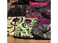 18 ladies bags and 9 clutch bags. Mostly new