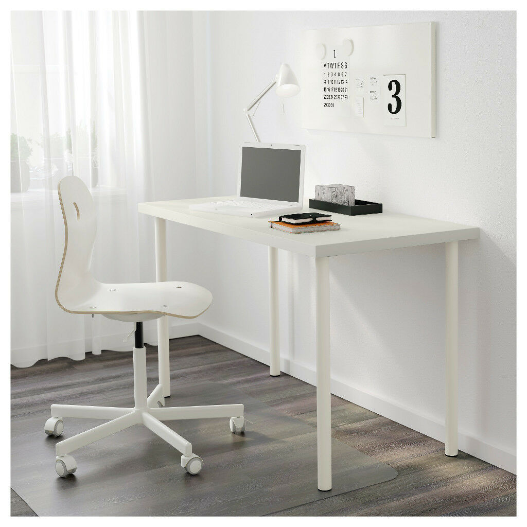 Lovely White Study Desk Ikea Linnmon Adils 120cm X 60cm Table Legs