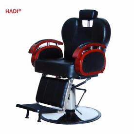 NEW HEAVY DUTY BLACK HADI® BARBER CHAIR BC-24,CASH ON COLLECTION ONLY new uk
