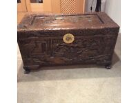 Chinese style carved chest