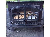 Hunter Herald 14 stove with wrap around boiler