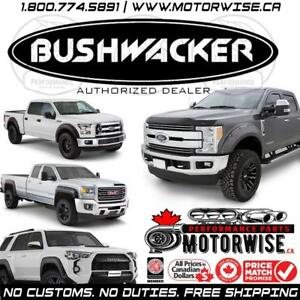Bushwacker Fender Flares | Bed Rails & More | Free Shipping Canada Wide | Shop & Order Online at www.motorwise.ca