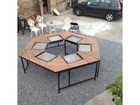 Six Station Barbeque Table for home or commercial use