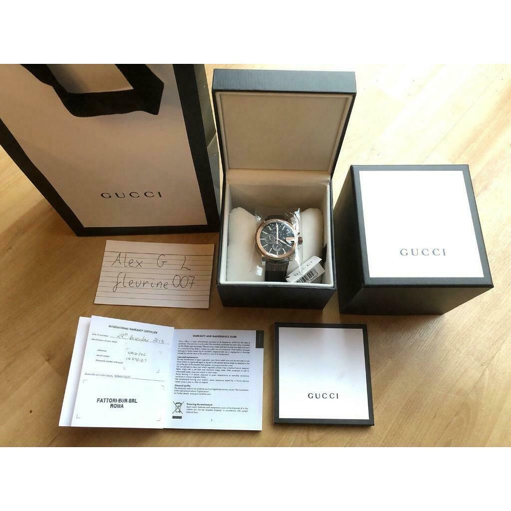 0cff4bf8532 BNWT Genuine Gucci YA101202 Men s G-Chrono Chronograph Watch