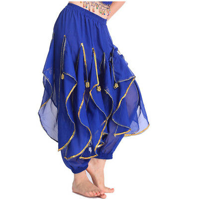 Belly Dance Tribal Costume Shinny Sequin Balloon Bloomers Trousers& Harem Pants - Harem Costume