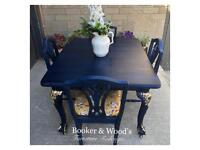 Stunning antique table & 4 chairs